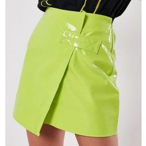 Missguided Faux Croc Mini Skirt